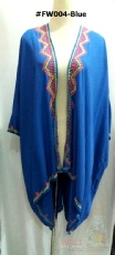 "Ladies Top ""American Native"" Blouse #FW004 - Blue"