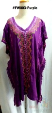 "Ladies Top ""American Native"" - V-Neck - #FW003 - Purple"